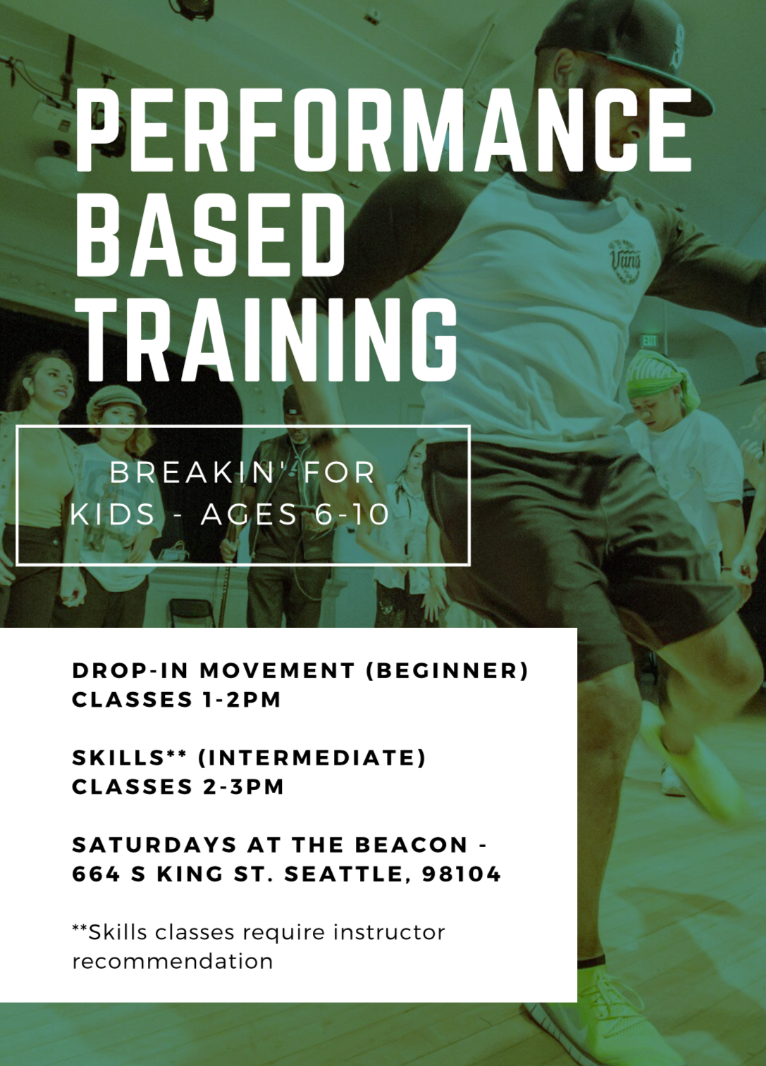 "2-3PM Kids Breakin ""SKILLS"" (Intermediate / Ages 6-11)"
